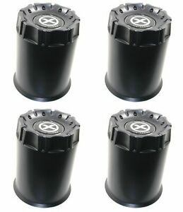 4 American Racing Black Center Caps 8l Ar901 Ar923 Mod 12 Ar172 Baja Ar767 Ar910
