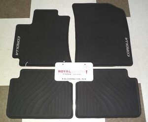 Toyota Corolla 09 13 Factory All Weather Rubber Floor Mats Genuine Oem Oe