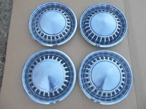 1958 Plymouth Belvedere 15 Inch Hub Caps Wheel Covers Hubcaps