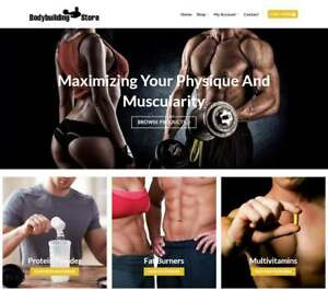 Body Building Website For Sale Earn 154 A Sale Free Domain Web Hosting