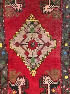 Kirsehir Turkish Prayer Rug 44 X 21 Made In Turkey Red Yellow Green 100 Wool