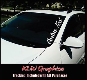 Custom Text Windshield Banner Car Diesel Truck Sticker Stacks Jdm Euro Decal