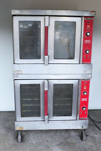 Vulcan Convection Oven Double Stack Vc4gd Commercial Gas propane W 120v Fans
