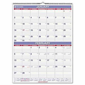 Aagpm928 At a glance Two month Wall Calendar