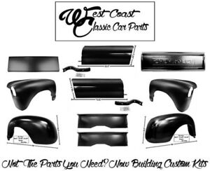 1947 1953 Chevy Ft Fenders Rr Fenders Bed Aprons Bedsides Bed Front Tailgate Kit