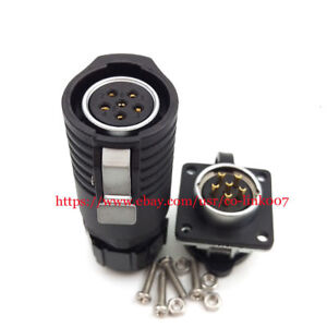 Lp20 6pin Led Waterproof Connector High Voltage Reversal Heavy Power Connector