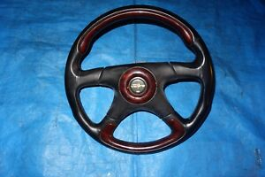Jdm Victoria Oem Wood Leather Steering Wheel Italy Civic Integra Supra Sti Evo