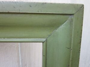 Excellent Contemporary Apple Green Painted Folk Art Primitive Ogee Mirror Frame