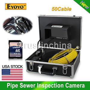 7 Lcd 50m Sewer Waterproof Camera Pipe Drain Inspection Cmos 1000tvl Led Us
