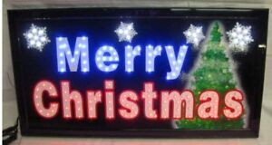 Merry Christmas Ultra Bright Led Neon Lighted Sign