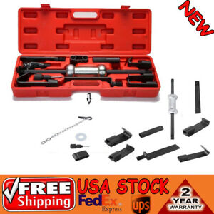 13pc Axle Slide Hammer Dent Panel Puller Set Internal External Use Tool Kit New