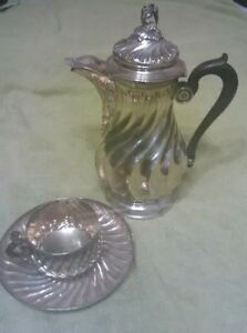Elegant Antique French Sterling Set Teapot Wine Or Water Pot 1880 Paris
