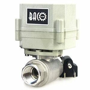 Bacoeng 1 2 Dn15 110vac Stainless Steel Motorized Ball Valve nc Electrical