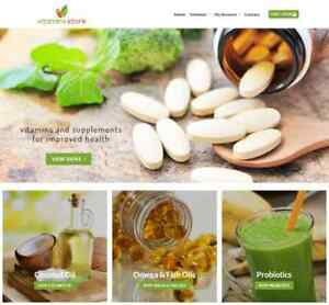 Vitamin Store Website Business Earn 186 A Sale Free Domain hosting traffic