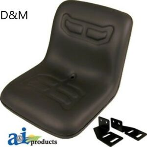 Universal Compact Tractor Seat With Brackets To Fit Ford Kubota Satoh Iseki