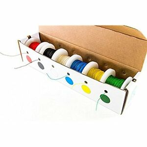 27wk30wwr100 Solid Gauge Wire Wrap Kynar Insulated Kit With 6 100 Spools