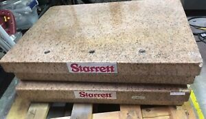 Starrett Granite Surface Plate With Ledge 18 X 24 X 6
