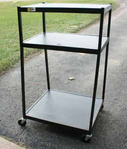 Steel Av Cart 54 Tall 32 x27 Wide Bottom Base 32 x22 Top 4 Casters Apollo