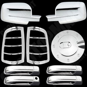Mirror Door Taillight Gas Chrome Covers For Dodge Ram 2500 3500 2009 10 11 2012