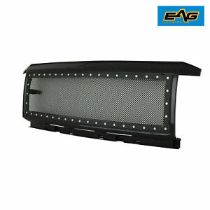 Eag 15 18 Chevy Silverado 2500 3500 Grille Black Rivet Ss Wire Mesh Packaged