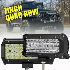 2x 7inch 648w Cree Led Work Light Bar Flood Beam Offroad 4wd Jeep Truck Atv 6 5