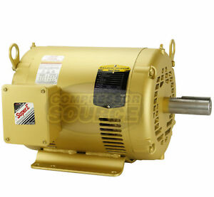 7 5hp 3 Phase Baldor Electric Compressor Motor 213t Frame 1770 Rpm 230 Volt