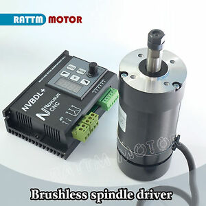 400w Brushless Spindle Motor Er8 60v Dc Nvbdl 600w Driver Kit For Cnc Router