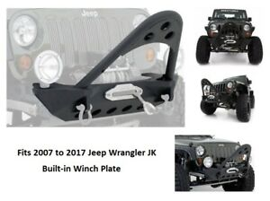 Smittybilt Front Stinger Bumper With Winch Plate For 07 17 Jeep Jk Wrangler