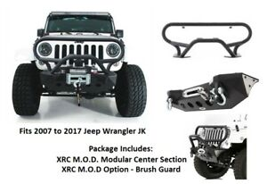 Jeep Front Bumper For 07 17 Jeep Jk Wrangler Xrc M O D Series W Brush Guard