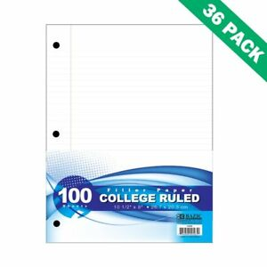 Filler Paper College Ruled Campus 8x10 5 Filler Paper Notebook Set Of 36