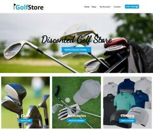 Golf Store Website Business For Sale Earn 244 A Sale Free Domain hosting