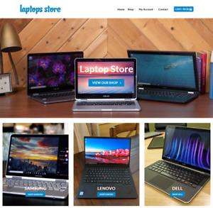 Laptop Store Website Business Earn 899 A Sale Free Domain hosting traffic