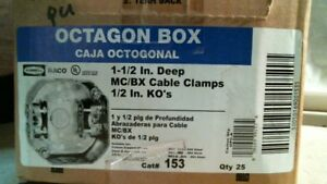 Hubbell Raco Cat 153 Octagon Box 25ct Free Shipping