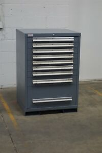 Used Lyon 9 Drawer Cabinet 44 Inch Industrial Tool Storage 1143 Vidmar