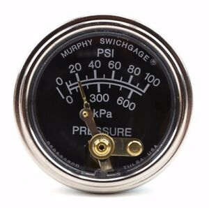 Lincoln Sa250 Murphy Oil Pres Gauge 0 100 Psi W out Bypass Bttn 20p 100 Bw1586