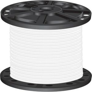 1000 Ft 4 Gauge White Stranded Thhn Cu Wire Single Conductor Electrical Cable