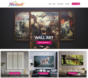 Wall Art Website For Sale Earn 433 A Sale Free Domain hosting traffic