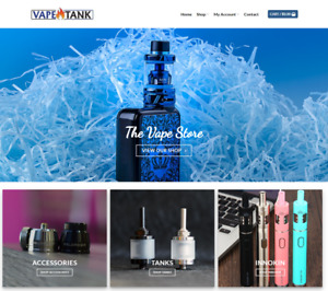 Vape Store Website Business Earn 136 A Sale Free Domain free Hosting
