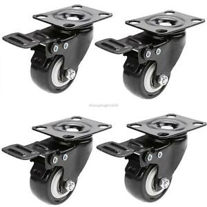 12 Pack Beach Chair Swivel Caster Rubber Wheel Steel Top Plate Ball Is6h