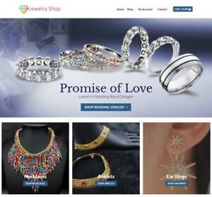 Jewelry Website Business Earn 329 A Sale Free Domain hosting traffic