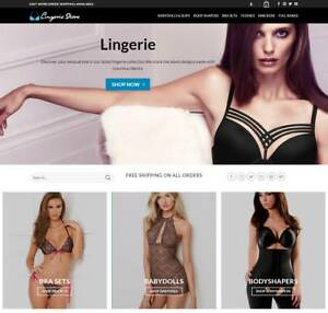 Lingerie Website Business Earn 321 A Sale Free Domain hosting