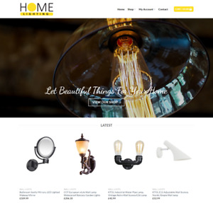 Home Lighting Website Business Earn 398 A Sale Free Domain hosting traffic