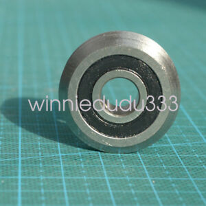 10pcs W1 Rm1 2rs 3 16 4 763 19 56 7 87mm V Groove Sealed Ball Guide Bearings