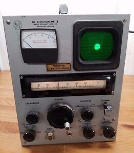 Vintage Radio Specialty Rs Fm Deviation Meter Tested Works Excellent Condition