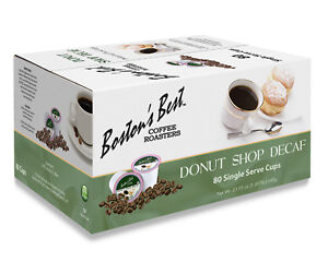 Boston#x27;s Best Single Serve K Cup Coffee Donut Shop Decaf 80 Count $34.99
