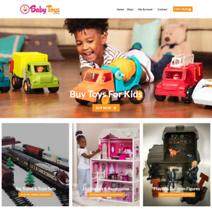 Baby Toys Website Business Earn 149 A Sale Free Domain traffic free Hosting