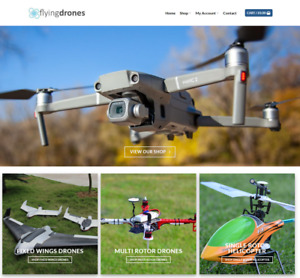 Flying Drones Website Business Earn 895 A Sale Free Domain hosting traffic