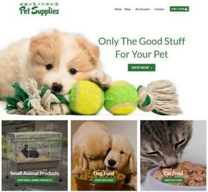 Pet Supplies Website Business Earn 126 A Sale Free Domain hosting traffic