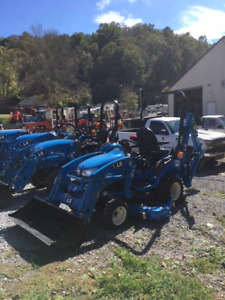 Ls Tractor Mt125 With Loader Backhoe And Mower