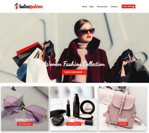 Ladies Fashion Website Business Earn 71 A Sale Free Domain hosting traffic